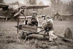 年轻飞行员 库存图片