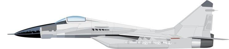 飞行喷气机 库存例证