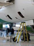 飞行器维修设置 库存图片