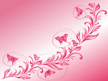 飞行在一根美丽的枝杈的蝴蝶 免版税图库摄影