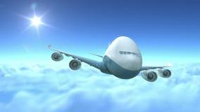 飞行在云彩的飞机 向量例证