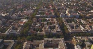 飞行在傲德萨市-黑海的镇上 影视素材