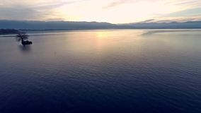 飞行在博登湖(bodensee) 影视素材
