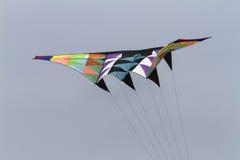 飞行在天空的五颜六色的风筝 库存图片