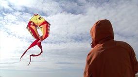 飞行在天空的风筝 股票视频