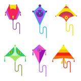 飞行在平的样式的风筝象 皇族释放例证