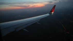 飞行在飞机上 股票视频