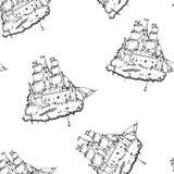 飞行城堡船 免版税库存照片