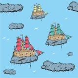 飞行城堡船 免版税图库摄影