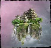 飞行城堡 免版税库存照片