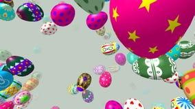 飞行复活节彩蛋引起了3D录影 皇族释放例证
