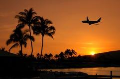 飞行夏威夷 免版税库存照片