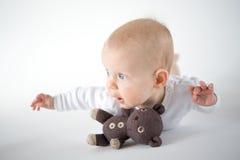 飞行婴孩 免版税库存照片