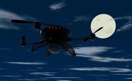 飞行寄生虫在夜之前 免版税库存图片