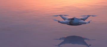 飞行寄生虫的例证 免版税库存照片