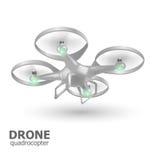 飞行寄生虫quadrocopter商标模板 也corel凹道例证向量 库存图片