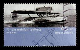 飞行小船道尼尔J鲸鱼1923年,福利:飞机serie,大约2008年 库存图片