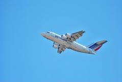 飞行属于法航公司 免版税图库摄影