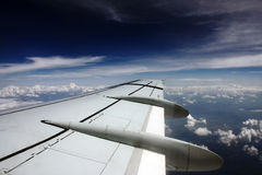 飞行平面视图翼 免版税库存图片
