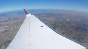飞行开普敦的飞机 影视素材