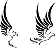 飞行您的老鹰纹身花刺设计 免版税库存照片