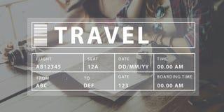 飞行旅行假期假日目的地概念 免版税库存图片
