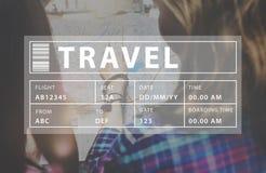 飞行旅行假期假日目的地概念 库存图片