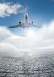 飞行旅行 免版税库存图片