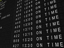 飞行时间 免版税库存图片
