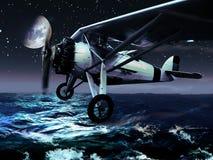 飞行晚上 免版税库存图片