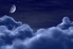 飞行月亮 向量例证