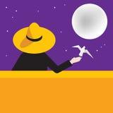 飞行月亮 免版税图库摄影