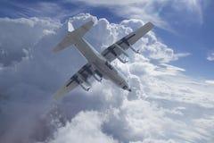 飞行有C的130运输机器 库存照片