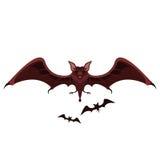飞行棒和吸血鬼 免版税库存图片