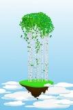飞行森林 免版税库存图片