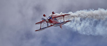 飞行正确的方式的澳大利亚飞行员? ? ? 库存图片