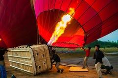飞行气球的适当的训练 库存图片