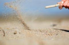 飞行沙子 免版税库存照片