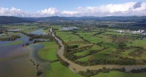 飞行沿河和洪水区域 股票录像