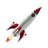 飞行火箭空间 免版税库存照片