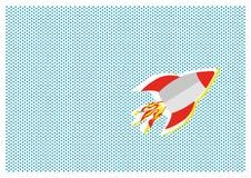 飞行火箭 免版税库存照片