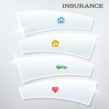 飞行物模板布局保险services1 向量例证