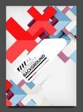 飞行物设计模板,企业网布局 免版税库存图片
