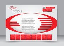 飞行物,小册子,杂志封面模板设计风景取向 免版税图库摄影