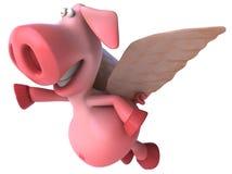 飞行猪 库存图片