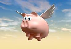 飞行猪 向量例证