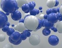 飞行球形 向量例证