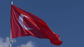 飞行的土耳其旗子 股票录像
