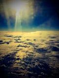 从飞行的天空 免版税库存图片