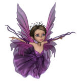 飞行的小的神仙的蝴蝶 免版税库存图片